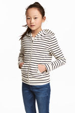 Hooded jacket - Natural white/Striped - Kids | H&M CN 1