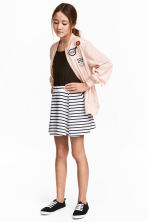 Striped jersey skirt - White/Black striped - Kids | H&M 1