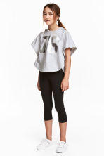 Leggings a tre quarti - Nero - BAMBINO | H&M IT 1