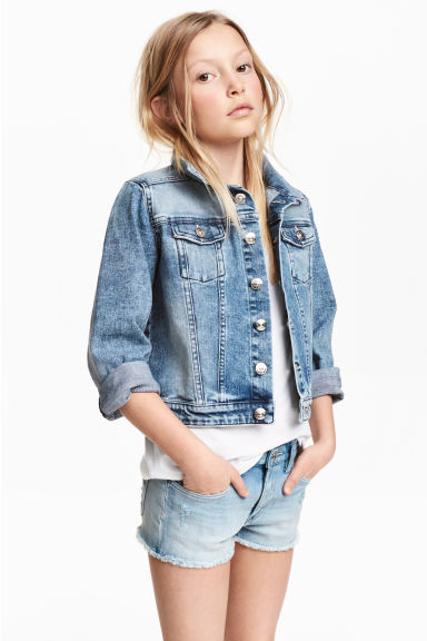 丹寧外套 - Denim blue - Kids | H&M 1