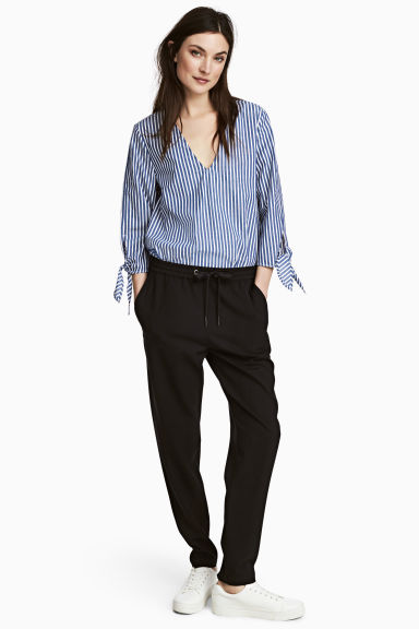 Pull-on trousers - Black - Ladies | H&M
