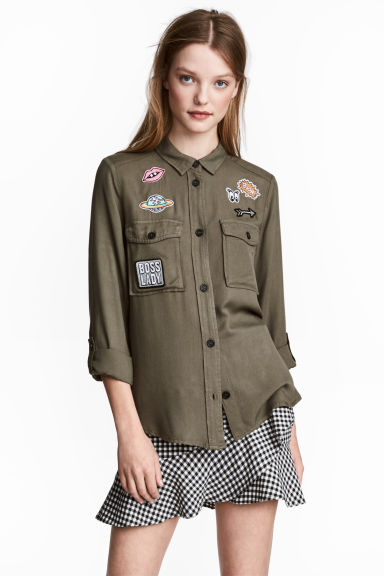 Utility shirt - Khaki green - Ladies | H&M CN