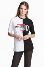 Printed T-shirt - White/Black - Ladies | H&M 1
