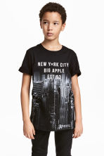 T-shirt con stampa - Nero/New York - BAMBINO | H&M IT 1