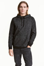 Hooded top - Black marl - Men | H&M 1