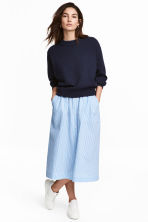 Seersucker skirt - Light blue/White striped -  | H&M CN 1