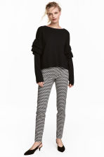 Cigarette trousers - Black/White/Patterned - Ladies | H&M CN 1