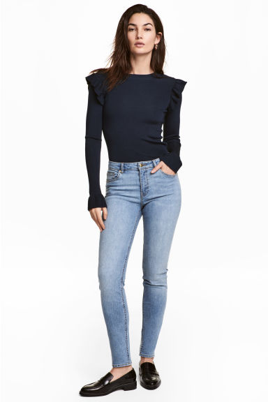 Superstretch trousers - Light denim blue - Ladies | H&M 1