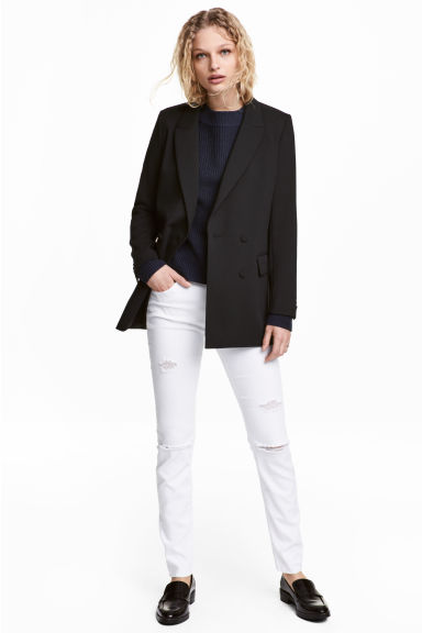 Skinny Regular Jeans - White denim - Ladies | H&M CN 1