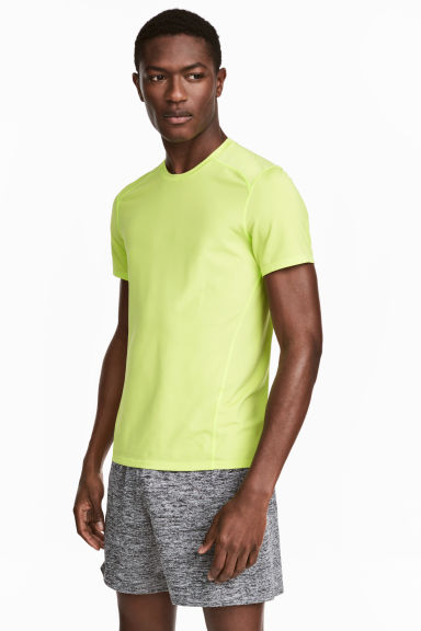 Sports top - Neon yellow - Men | H&M 1