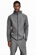 Hooded sports jacket - Dark grey marl - Men | H&M CN 1