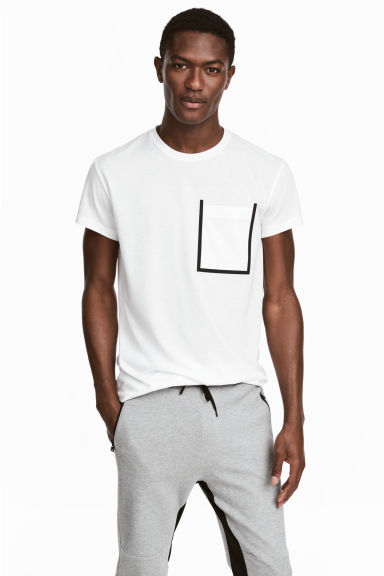 Mesh T-shirt - White - Men | H&M 1