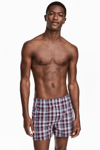3-pack boxer shorts - Burgundy/Checked - Men | H&M 1