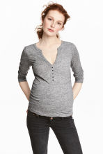 MAMA Top in jersey mélange - Grigio mélange - DONNA | H&M IT 1
