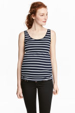 MAMA Jersey vest top - Dark blue/Striped -  | H&M IE 1