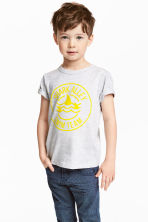 Printed T-shirt - Light grey marl -  | H&M 1
