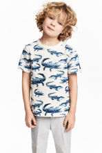 Printed T-shirt - White/Crocodiles - Kids | H&M CN 1