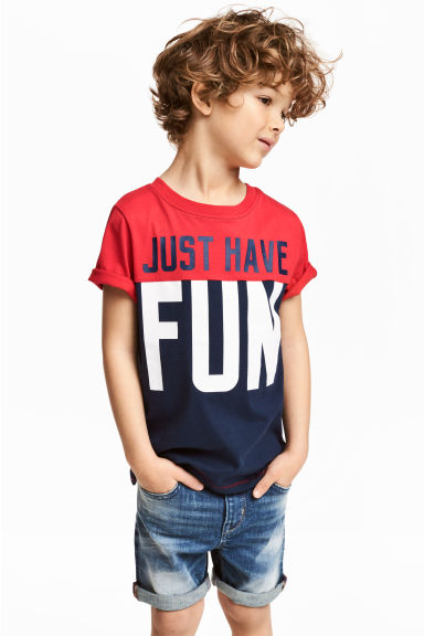 T-shirt - Red/Dark blue - Kids | H&M 1