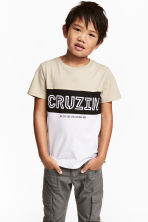 T-shirt - Light mole/White - Kids | H&M CN 1