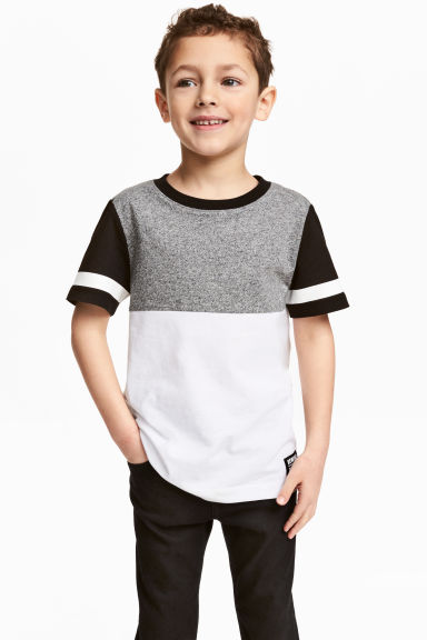 T-shirt - Black/White - Kids | H&M