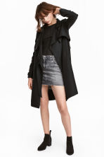 Wrapover trenchcoat - Black - Ladies | H&M 1