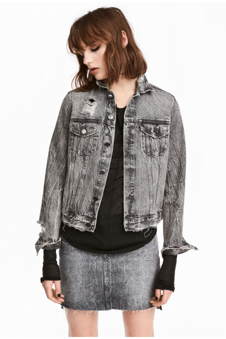 Trashed denim jacket
