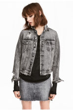 Trashed denim jack - Zwart washed out - DAMES | H&M NL 1