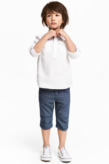 Clamdiggers - Dark blue/Narrow striped - Kids | H&M CN 1