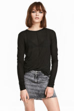 Top in a lyocell blend - Black - Ladies | H&M 1
