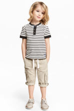 Cargobyxa Roll-up - Ljusbeige - Kids | H&M FI 1