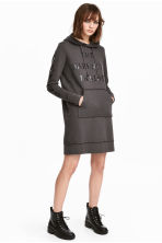 Hooded sweatshirt dress - Dark grey - Ladies | H&M 1