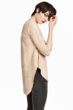 Trashed top - Powder beige - Ladies | H&M CN 1
