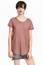 Jersey crêpe top - Light terracotta - Ladies | H&M 1