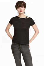 Trashed T-shirt - Black - Ladies | H&M 1