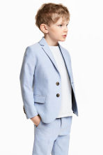 Textured-weave blazer - Light blue - Kids | H&M 1