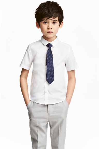 Shirt with tie/bow tie - White - Kids | H&M CA