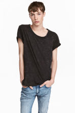Slub jersey T-shirt - Black - Men | H&M 1