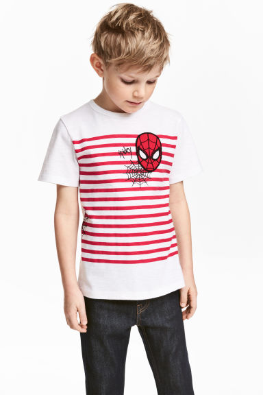 Printed T-shirt - White/Spiderman - Kids | H&M 1