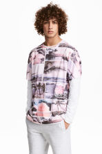 Patterned T-shirt - Light pink - Men | H&M CN 1
