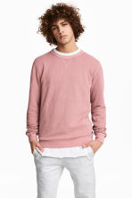 Textured sweatshirt - Pale pink - Men | H&M CN 1