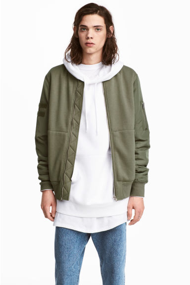 Bomber jacket - Khaki green - Men | H&M