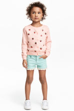 Twill shorts with lace - Mint - Kids | H&M 1