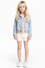 Twill shorts with lace - White - Kids | H&M CN 1