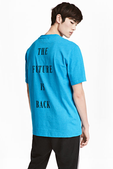 T-shirt - Bright blue - Men | H&M CN 1