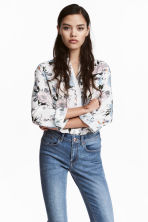Viscose shirt - White/Floral - Ladies | H&M CN 1