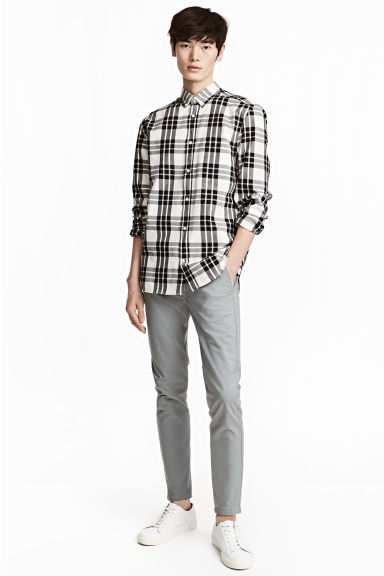 Chino - Skinny fit - Grijs - HEREN | H&M BE