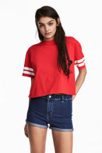 Short T-shirt - Red - Ladies | H&M CN 1