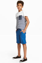 Chino shorts - Cornflower blue -  | H&M 1