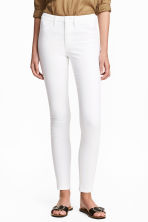 Skinny High Ankle Jeans - Vit denim - Ladies | H&M SE 2
