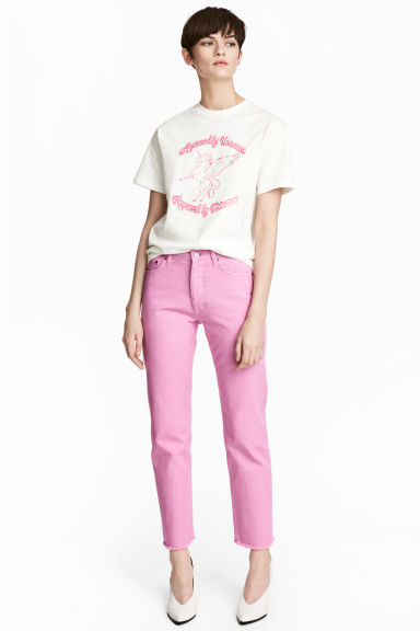 Straight Regular Jeans - Pink -  | H&M CN 1